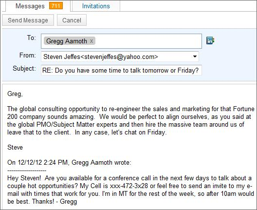 Respond To LinkedIn E-Mails