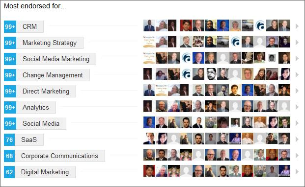Top Level LinkedIn Endorsements