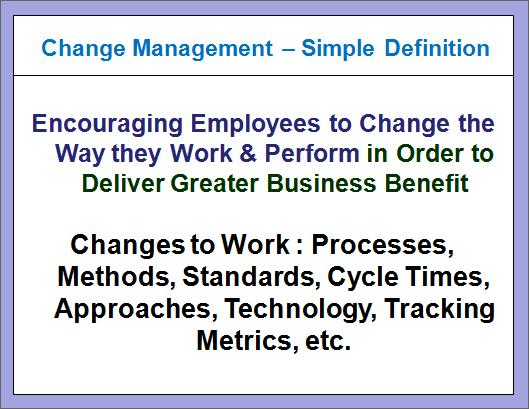 A Simple Definiton for Change Management