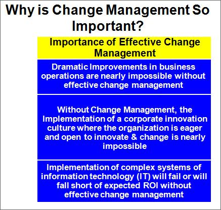 Why Is Change Management So Important?