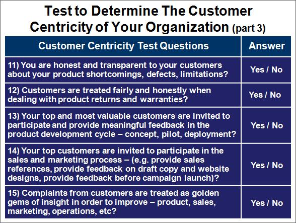 Company Customer Orientation Test, Part 3