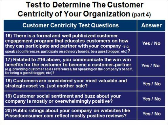 Company Customer Orientation Test, Part 4