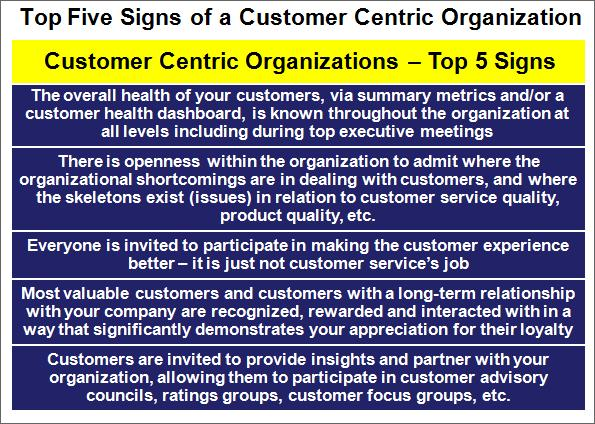 Top 5 Signs of a Customer Oriented Culture