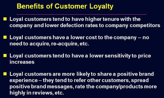 Benefits Of Customer Loyalty