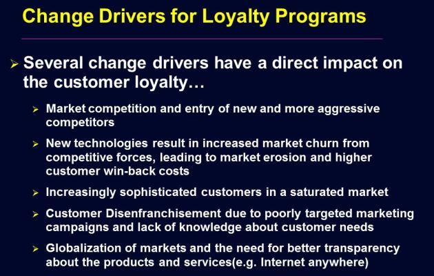 Change Drivers For Customer Loyalty Programs