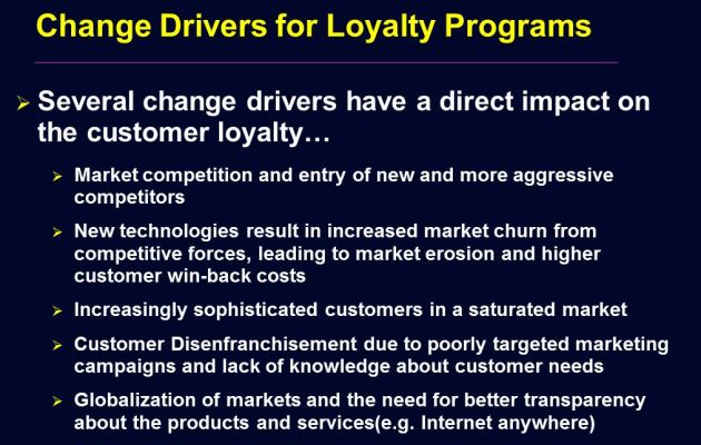 Change Drivers For Customer Loyalty Programs