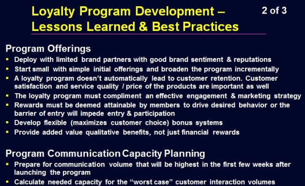 Loyalty Program Lessons Learned - 2 of 3