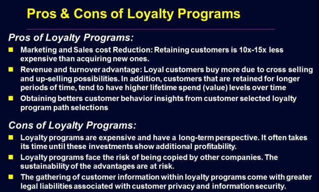 Loyalty Program Pros and Cons