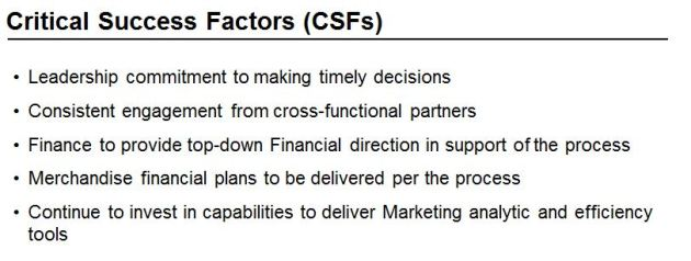 Marketing Critical Success Factors