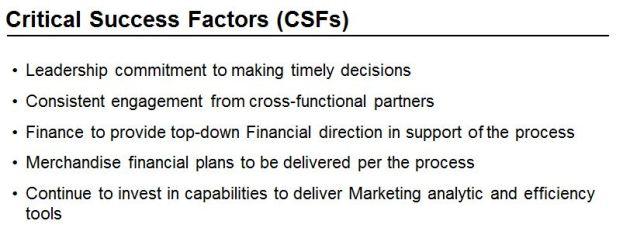 Marketing Critical Success Factors
