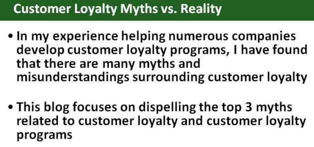 Customer Loyalty Myths vs. Reality