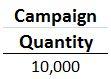 Campaign Quantity