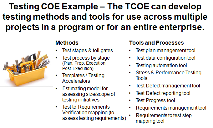 TCOE Methods and Tools Delivery