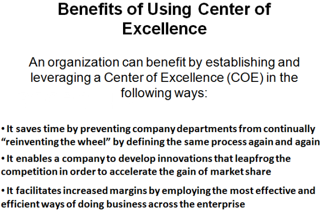 Center of Excellence Benefits