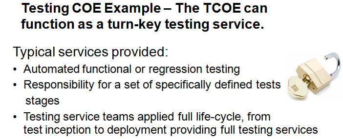 TCOE Delivered Testing Services