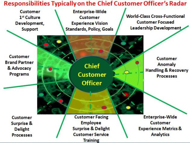 Responsibilities on the Radar of the Chief Customer Officer